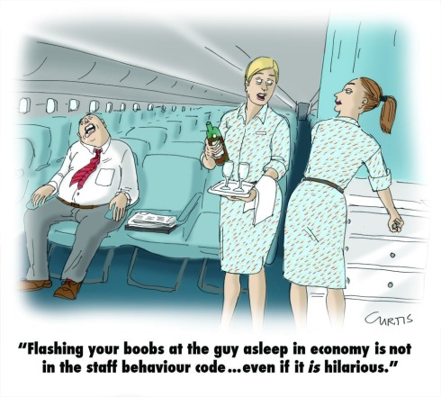 are you bored? Flight attendant cartoon | cluestolife