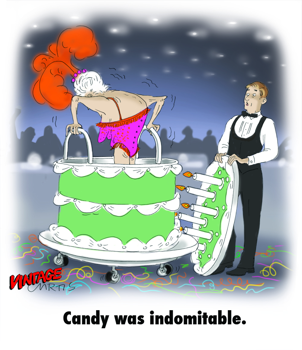 Jumping Out Of A Cake Cartoon
