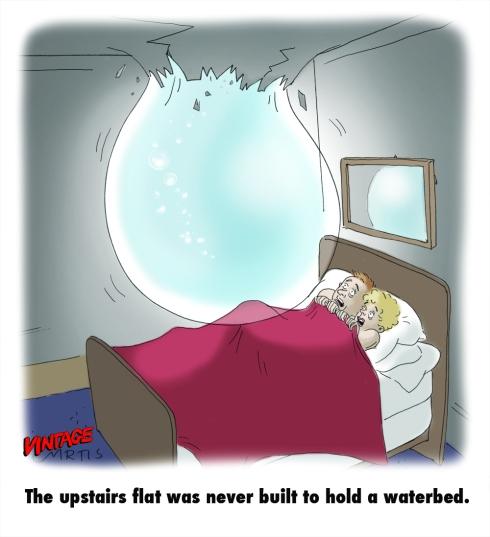 Waterbed cartoon