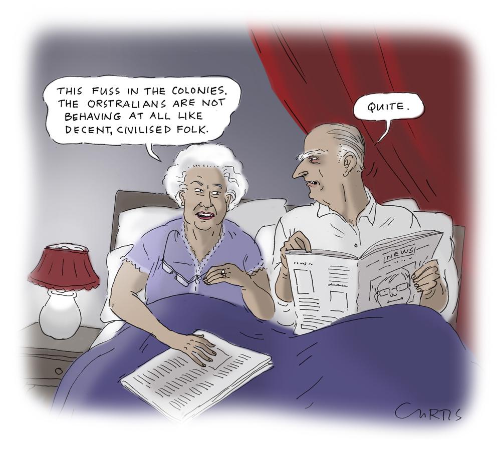 Queen Elizabeth Cartoon Cluestolife