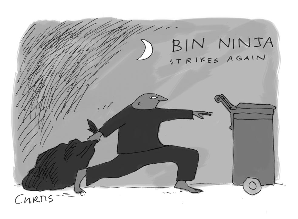 Black Wheelie Bin Cartoon